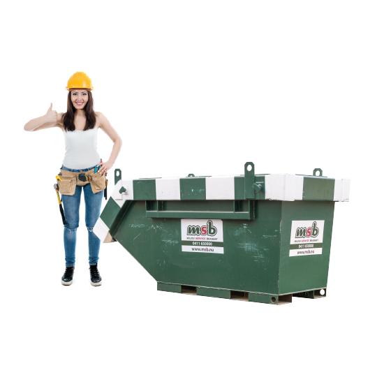 2,5 m³ afzetcontainer puin