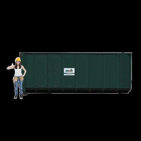 30 m³ magazijn afzetcontainer folie