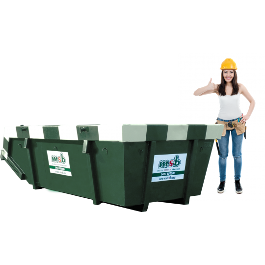 6 m³ afzetcontainer dakafval