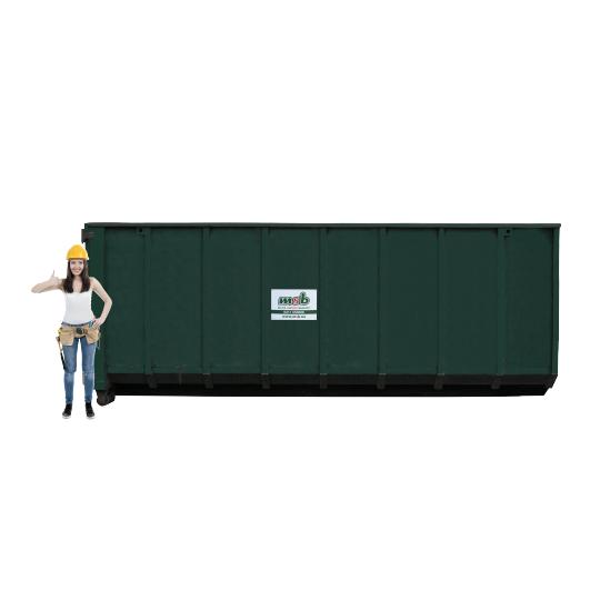 30 m³ open afzetcontainer bouw- en sloopafval