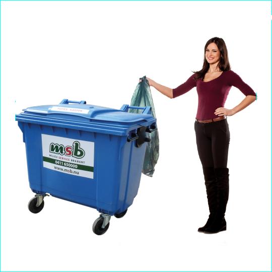 660 liter kunststof rolcontainer papier-karton