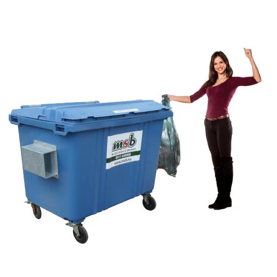 1700 liter rolcontainer kunststof papier-karton
