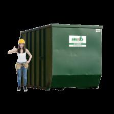 10 m³ magazijn afzetcontainer papier-karton