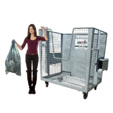 2400 liter stalen gaascontainer papier-karton