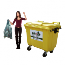 660 liter kunststof rolcontainer flessenglas