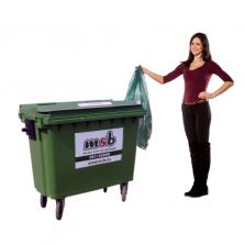 500 liter kunststof rolcontainer bedrijfsafval/ restafval