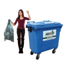 770 liter kunststof rolcontainer papier-karton