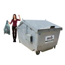 5000 liter stalen rolcontainer bedrijfsafval/ restafval