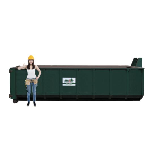 20 m³ open afzetcontainer folie