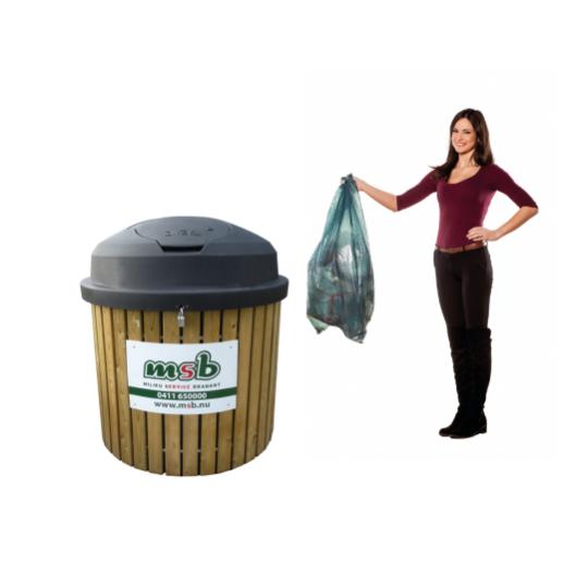 1750 liter ondergrondse container papier-karton