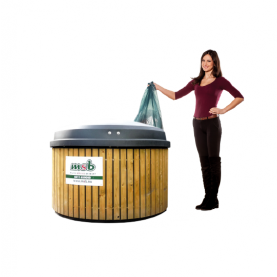 5000 liter ondergrondse container papier-karton