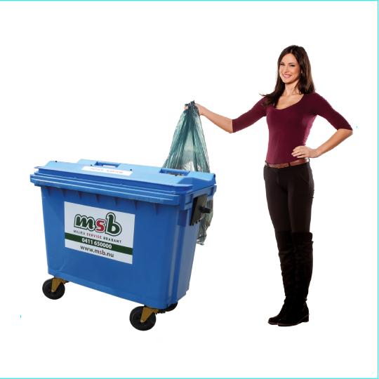 500 liter kunststof rolcontainer papier-karton