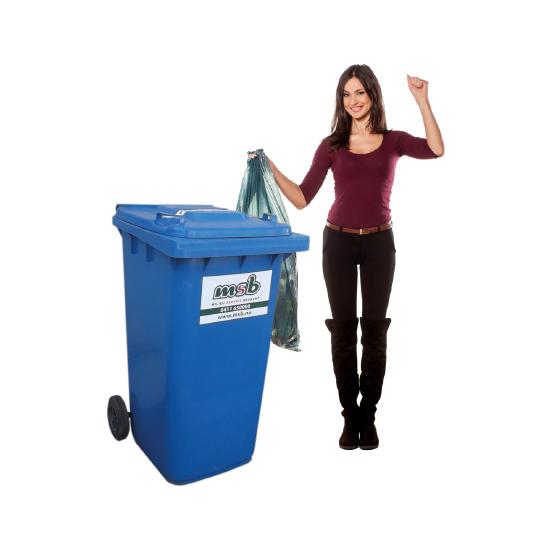240 liter kunststof rolcontainer papier-karton