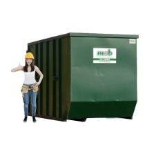 10 m³ magazijn afzetcontainer bouw- en sloopafval