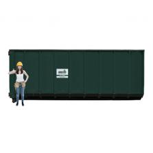 40 m³ afzetcontainer folie