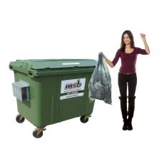 1700 liter kunststof rolcontainer bedrijfsafval/ restafval