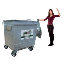1100 liter stalen rolcontainer papier-karton