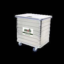 350 liter aluminium rolcontainer gesloten vertrouwelijk papier