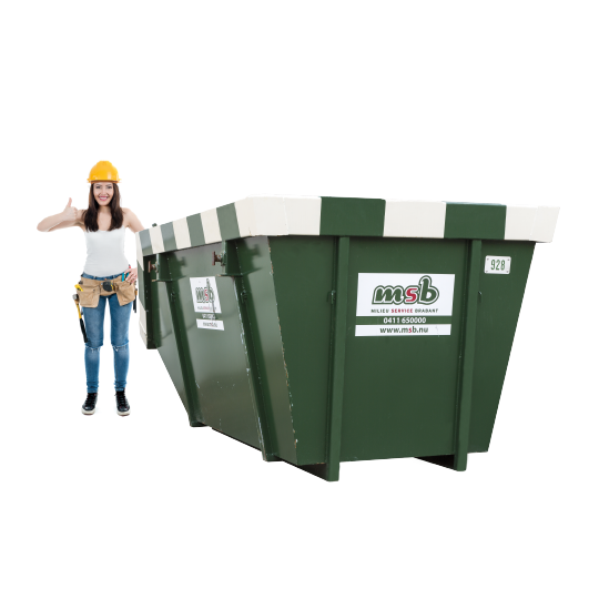 10 m³ open afzetcontainer gipspuin