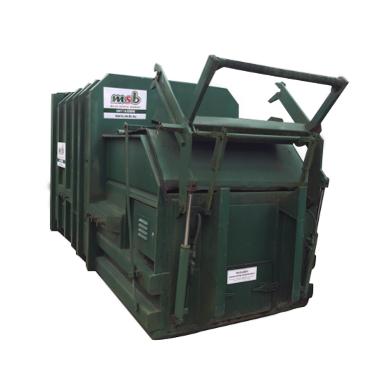 10 m³ pers afzetcontainer papier-karton