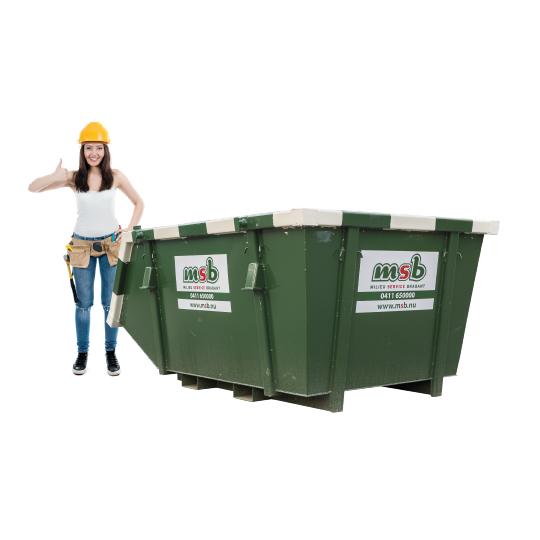 4 m³ afzetcontainer bedrijfsafval/ restafval