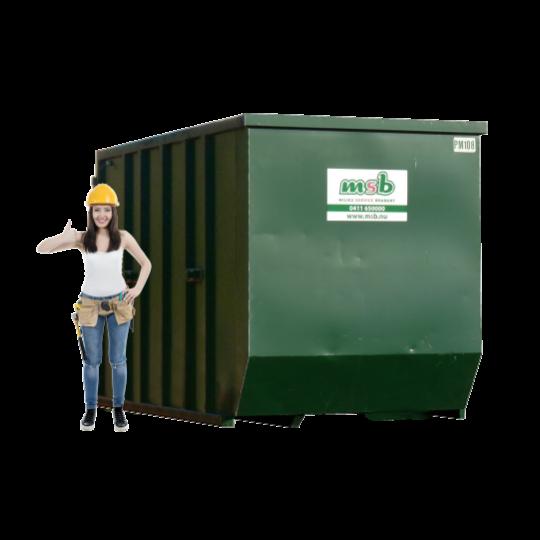 10 m³ magazijn afzetcontainer folie