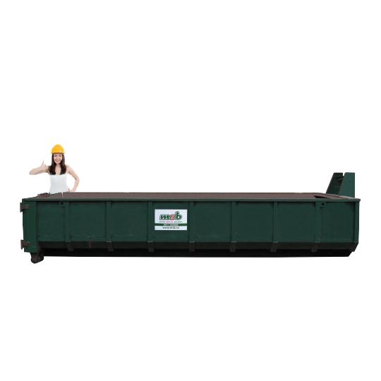 15 m³ afzetcontainer dakafval