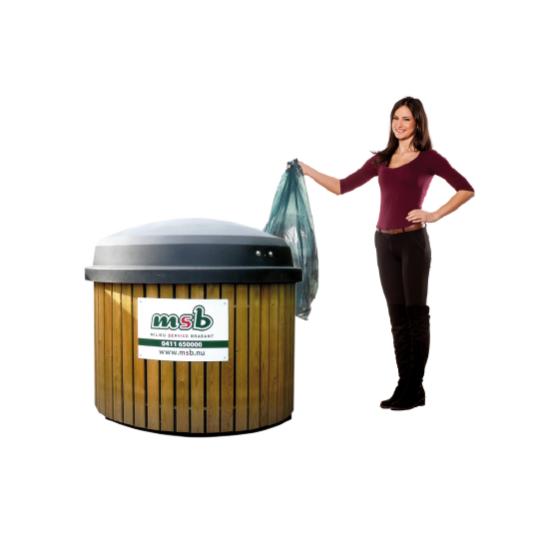 3000 liter ondergrondse container papier-karton