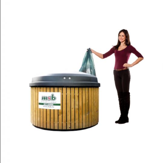 5000 liter ondergrondse container bedrijfsafval/ restafval