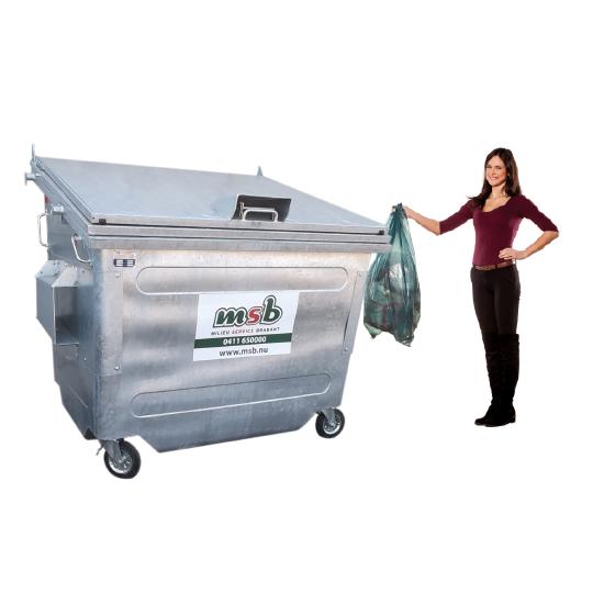 2500 liter stalen rolcontainer papier-karton