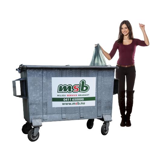 770 liter stalen rolcontainer papier-karton