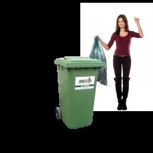 240 liter kunststof rolcontainer bedrijfsafval/ restafval