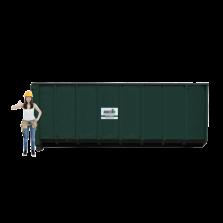 30 m³ magazijn afzetcontainer papier-karton