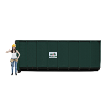 30 m³ magazijn afzetcontainer bedrijfsafval/ restafval