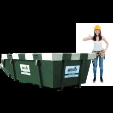 6 m³ afzetcontainer vlakglas
