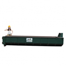 12 m³ open afzetcontainer vlakglas