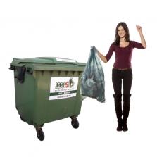 660 liter kunststof rolcontainer bedrijfsafval/ restafval
