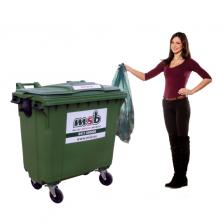 770 liter kunststof rolcontainer bedrijfsafval/ restafval