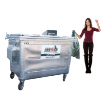 1700 liter stalen rolcontainer papier-karton