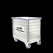 500 liter aluminium rolcontainer gesloten vertrouwelijk papier