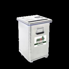 70 liter aluminium rolcontainer gesloten vertrouwelijk papier